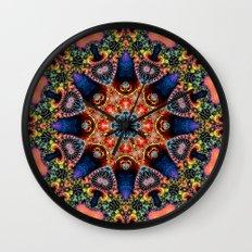 BBQSHOES: Kaleidoscopic Fractal Digital Art Design 1702K Wall Clock