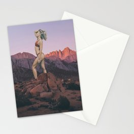 Giant Woman in the Desert in Joshua Tree Stationery Cards