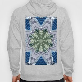 Blue And Green Abstract Hoody