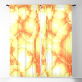 Gentle intersecting golden translucent circles in pastel colors with glow. Blackout Curtain