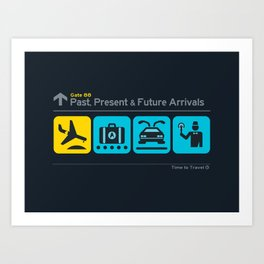 Time to Travel Art Print