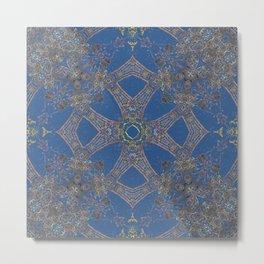 Ashanti Blue Metal Print