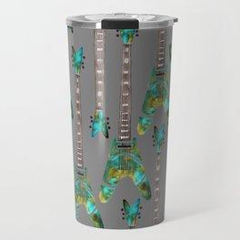 Guitar 1 Pattern - Dark Travel Mug