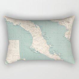 Vintage Map of The Baja California Peninsula (1924) Rectangular Pillow