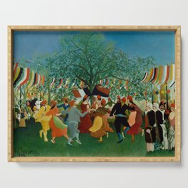 """Henri Rousseau """"A Centennial of Independence"""" Serving Tray"""