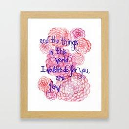 Few Framed Art Print