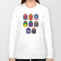 pocket Long Sleeve T-shirts featuring World's mightiest pocket heroes by Steven Toang
