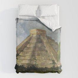 Mayan Pyramid Comforters