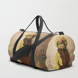 Lady Vanderkat with Roses Duffle Bag
