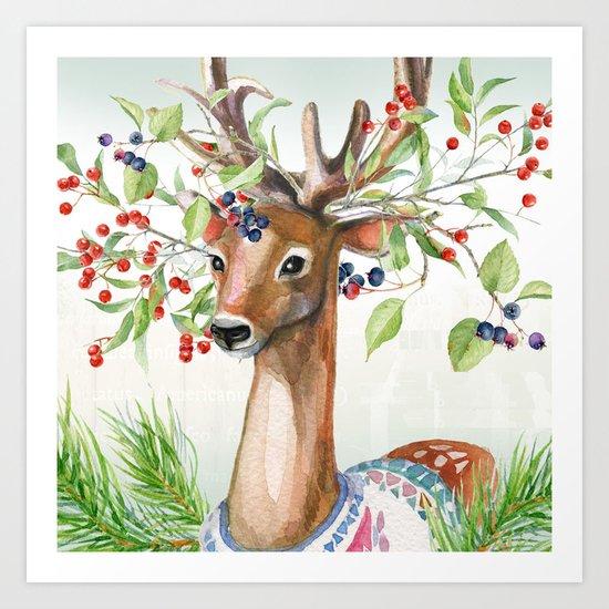 Winter animal #4 Art Print