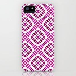 Shibori Watercolour no.7 Magenta iPhone Case