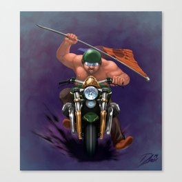 Bear Biker Canvas Print