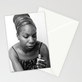 Nina Simone Art Print - Black Culture - Black History Stationery Cards