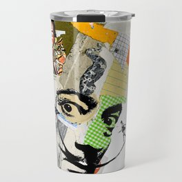 Salvador Dali Colorful Mixed Media Collage Art Travel Mug