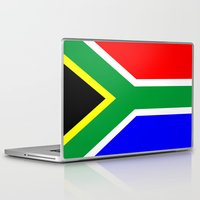 south africa Laptop & iPad Skins featuring south africa country flag by tony tudor