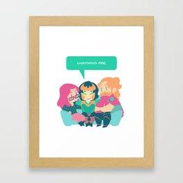 Everything's FINE. Framed Art Print
