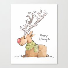 Holiday Card - Rosy Rudolph Canvas Print