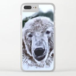 Animals and Art - Polar Bear Clear iPhone Case