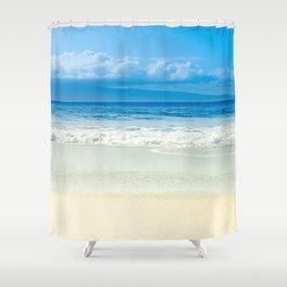Beach Blue Kapalua Golden Sand Maui Hawaii Shower Curtain