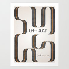 On The Road by Jack Kerouac Art Print