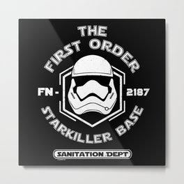 The First Order Sanitation Department Metal Print