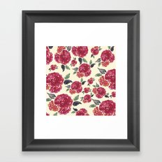Antique Floral Framed Art Print