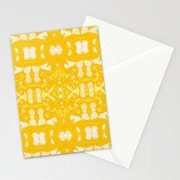 Yellow Oxford Shibori Stationery Cards