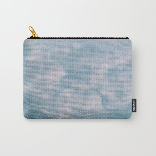 Fluffy Blue Clouds Carry-All Pouch