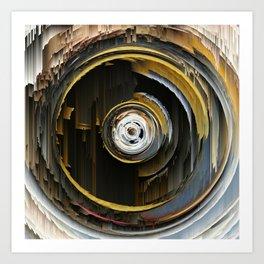 Target Rings: digital abstraction Art Print