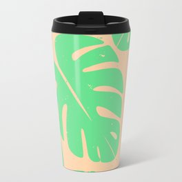 Monstera Leaf Print 3 Travel Mug