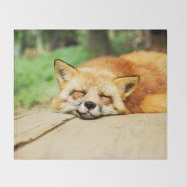 Cutie Foxy Nappy Throw Blanket