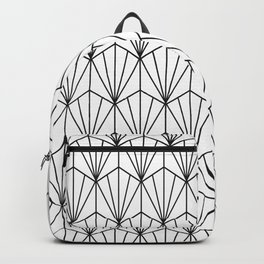 Art Deco Vector in Black and White Backpack