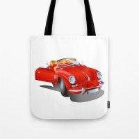 porsche Tote Bags featuring Porsche by Paola Canti