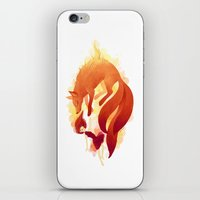 freeminds iPhone & iPod Skins featuring Fire Fox by Freeminds