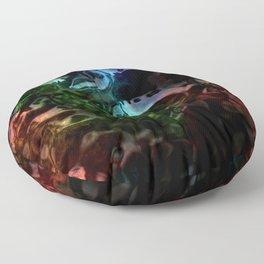 Liquid Rainbow Obsidian Floor Pillow