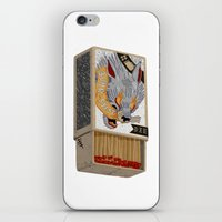 shit iPhone & iPod Skins featuring Burn Shit. by NVM Illustration