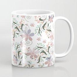 Pink blue flowers .22 Coffee Mug