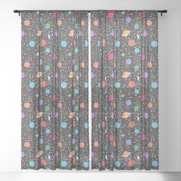Astrology Pattern Sheer Curtain