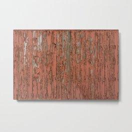 Peeling Wooden Boxcar Paint Train Texture Metal Print