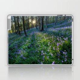 Bluebell sunset at Margam woods Laptop & iPad Skin