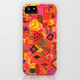 Boho Patchwork in Warm Tones iPhone Case