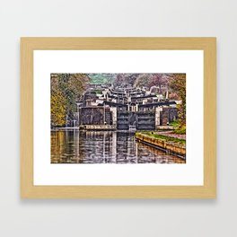 Hatton Locks Warwickshire Framed Art Print