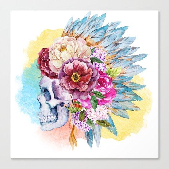 Skull 09 Canvas Print