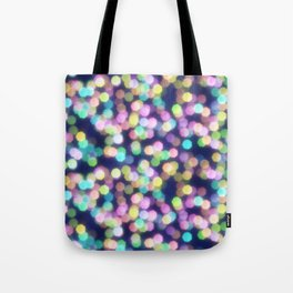Coloured Bokeh Tote Bag