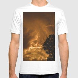 peach lightning T-shirt
