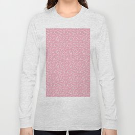 Postmodern Squiggles in Pink + Mint Long Sleeve T-shirt