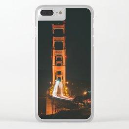 Golden Gate Bridge Night Clear iPhone Case