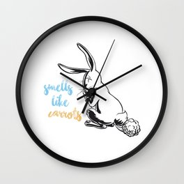 Smells Like Carrots Wall Clock