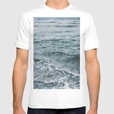 Arctic Waters MEDIUM White Mens Fitted Tee