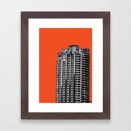 Barbican London (orange) Framed Art Print